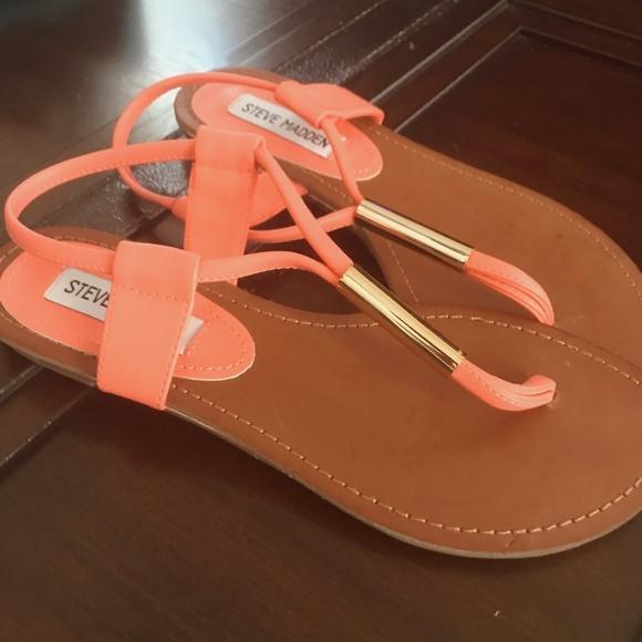 Steve Madden Shoes - CORAL AND GOLD STEVE MADDEN SANDALS